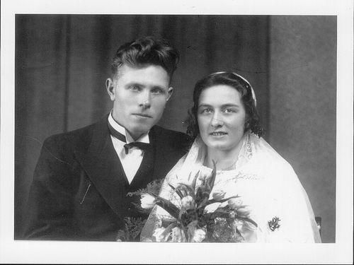 brudebilde farmor og farfar