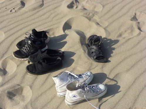 sko i sand