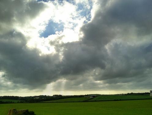 Landskap med høg himmel