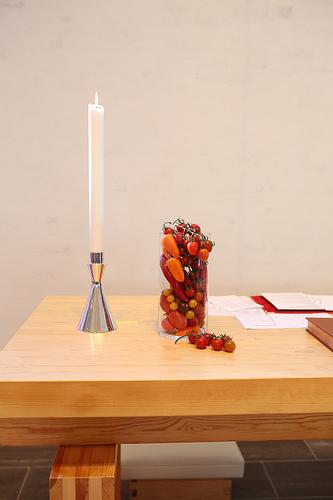 altar med grønsaksdekor