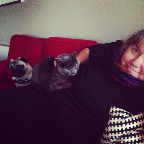 Heidi med Osci og Cleo