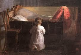 Helga ber aftenbønn. Anna Ancher