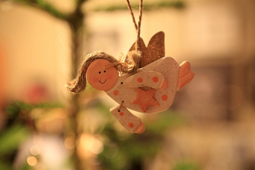 engel på juletre