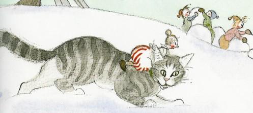 teskjekjerring og katt